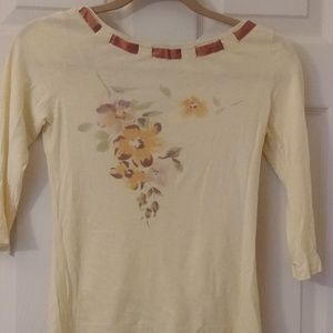 Anthopologie yellow top